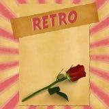 Sinal retro no fundo vermelho do vintage Fotos de Stock