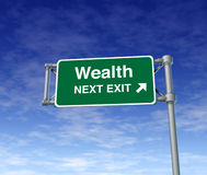 Sinal rico da independência da liberdade financeira da riqueza Foto de Stock Royalty Free