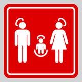 Sinal santamente da família Imagem de Stock
