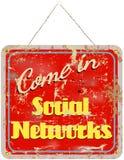 Sinal social das redes Foto de Stock Royalty Free