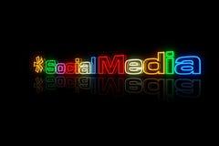Sinal social dos media ilustração do vetor
