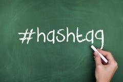 Sinal social dos meios de Hashtag fotos de stock royalty free