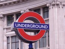 Sinal subterrâneo do tubo de Londres Foto de Stock Royalty Free