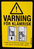 Sinal sueco do perigo Foto de Stock Royalty Free