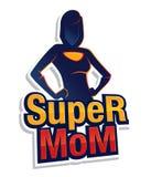 Sinal super e símbolo da mamã Fotografia de Stock
