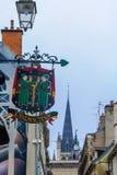 Sinal típico do negócio, em Dijon Fotos de Stock Royalty Free