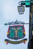 Sinal típico do negócio, em Dijon Fotografia de Stock