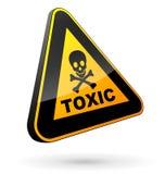 Sinal tóxico 3d ilustração do vetor