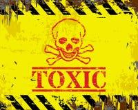 Sinal tóxico do esmalte ilustração stock