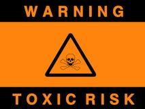 Sinal tóxico do risco ilustração royalty free