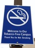 Sinal Tabaco-Livre imagem de stock