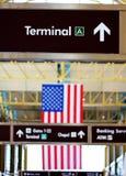 Sinal terminal Imagens de Stock Royalty Free