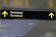 Sinal terminal Foto de Stock