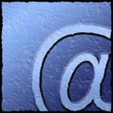Sinal Textured do email ilustração stock