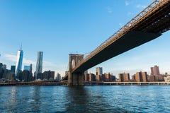 Sinal, tijolos, perto da ponte de Brooklyn Foto de Stock Royalty Free