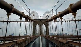 Sinal, tijolos, perto da ponte de Brooklyn Fotografia de Stock Royalty Free