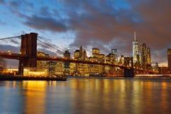 Sinal, tijolos, perto da ponte de Brooklyn Imagens de Stock