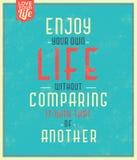 Sinal tipográfico/citações inspiradores Foto de Stock Royalty Free