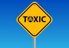 Sinal tóxico Imagem de Stock Royalty Free
