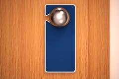 Sinal vazio em um botão de porta Fotografia de Stock