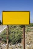 Sinal vazio na borda da estrada Fotos de Stock Royalty Free