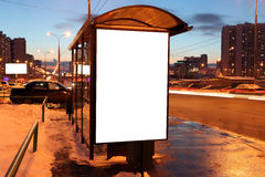 Sinal vazio na parada do ônibus Fotografia de Stock Royalty Free