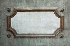 Sinal vazio no muro de cimento Imagem de Stock