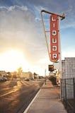 Sinal velho da loja de bebidas Fotografia de Stock Royalty Free