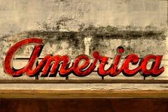 Sinal velho de América Imagem de Stock