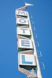 Sinal velho do motel foto de stock