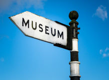 Sinal velho do museu Imagens de Stock