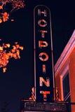 Sinal velho do restaurante de Hotpoint imagens de stock