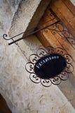 Sinal velho do restaurante fotografia de stock