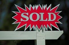 Sinal vendido Foto de Stock Royalty Free