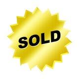 Sinal vendido Fotografia de Stock