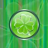 Sinal verde da folha do shamrock Fotos de Stock Royalty Free