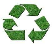 Sinal verde do recyle Fotografia de Stock