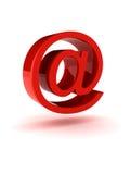 Sinal vermelho brilhante do email Fotografia de Stock Royalty Free