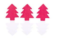 Sinal vermelho da árvore de Natal Fotografia de Stock Royalty Free