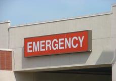 Sinal vermelho da emergência Imagem de Stock Royalty Free