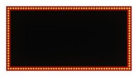 Sinal vermelho da placa da luz do famoso retro no fundo branco rendição 3d imagem de stock royalty free