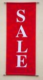 Sinal vermelho da venda Fotografia de Stock Royalty Free