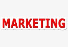 Sinal vermelho de mercado Imagem de Stock Royalty Free