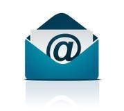 Sinal/vetor do email Imagens de Stock