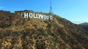 Sinal video aéreo de Hollywood video estoque