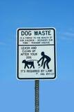 Sinal waste do cão Imagem de Stock Royalty Free