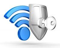Sinal Wi-Fi no fundo branco Fotografia de Stock