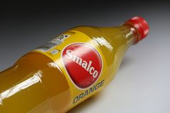 Sinalco Orange, the oldest soft drink brand in Europe. Sinalco is a popular brand of non-alcoholic drinks first marketed in 1902, with sales in now more than 40 royalty free stock photos