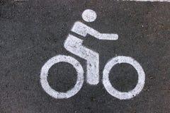 Sinalize a maneira de bicicleta Imagem de Stock