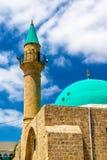 Sinan Basha Mosque in de oude stad van Acre stock foto